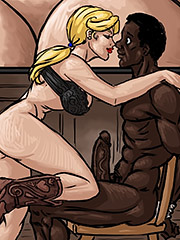 She had slid down on to his cock - Farmers daughter by Illustrated interracial