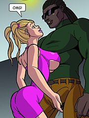 Show me what you've got, big boy - Wives wanna have fun too 2 by Interracial comics