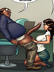 I guess my boy knows talent as well - Detention 2 (Mature porn cartoon) by Black n White