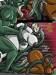 Long tentacle cocks - Close encounters 9 by Duke's Hardcore Honeys
