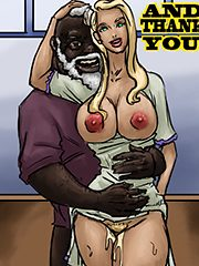 The tight white pussy - Thank you by Illustrated interracial