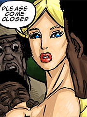The other slaves now knew this young white woman wants this to happened - Manza by Illustrated interracial