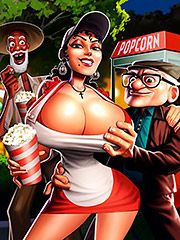 Hit that big cock on my mouth - Old Geezers of the Park in Popcorn cart by welcomix