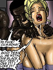 My pussy is aching for his big black cock - Manza by Illustrated interracial