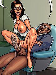 It feels so good - Detention 2 (Mature porn cartoon) by Black n White