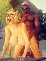 I'm gonna cum on that white pussy - Tropical Fantasies by Shassai