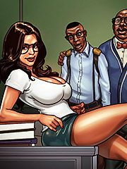 I could really use Eugene's cock to relax me right now - Detention 2 Parent teacher conference by Black n White comics