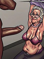 Show me what you got anyway old lady - Art class (Mature porn cartoon) by Black n White comics