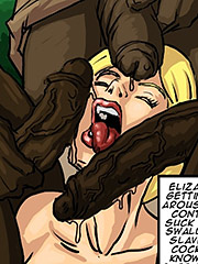 She was able to deepthroat their bbc - Manza by Illustrated interracial