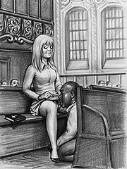 Her husband is gonna smell cock - Interracial art by Janus