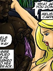 Her pussy filled with his cum - The new parishioner by Illustrated interracial