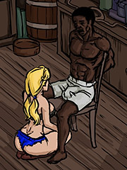 She examined his cock - Farmers daughter by Illustrated interracial