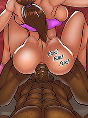 I love it (double penetration) - The wife and the black gardeners 3 by Kaos comics