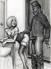 Now relax baby and take it - Interracial art by Janus