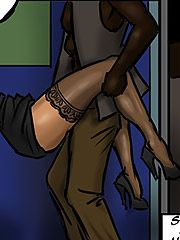Sucking the blood from her wounds - Lust for the librarian by Illustrated interracial
