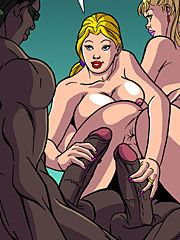 I can barely fit it into my mouth - Wives wanna have fun too 2 by Interracial comics