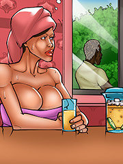 Poor man, looks hot - The wife and the black gardeners 3 by Kaos comics