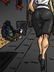 He grabs her by her hair and waist - The homeless man's new wife by Illustrated interracial 2016