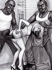 Truly filled and stretched like never before - Interracial art by Janus