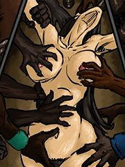 One white girl, trapped in the ghetto slums - BBN 4 by Illustrated interracial