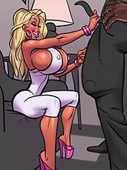 Big tittied blonde bimbo fuckdoll - Interracial comix by John Persons